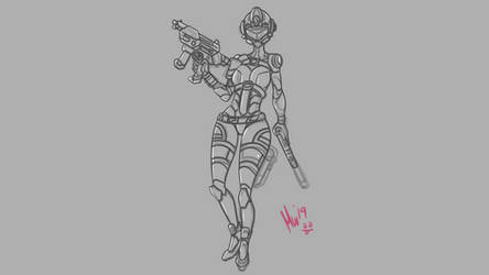 Future Soldier Sketch by MiniWeeb