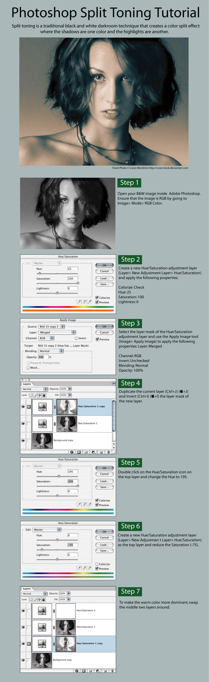 Photoshop SplitToning Tutorial by carlzon