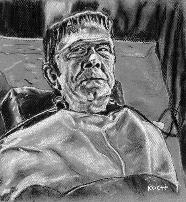 Lugosi/FRANKENSTEIN MEETS THE WOLF MAN by R. Koch by tabongafan
