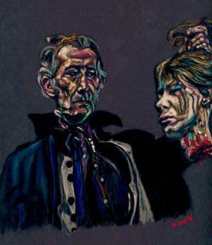 Peter Cushing/THE VAMPIRE LOVERS by Roger Koch