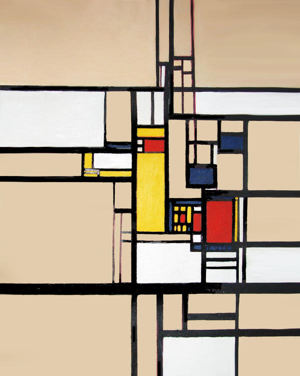 de stijl art Dutch for the style (pronounced the same), de stijl was the name of a group of  artists and architects who gathered around the largely theoretical architect theo.