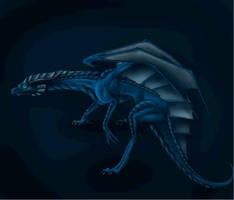 Blue dragon by DeviousCreator9000