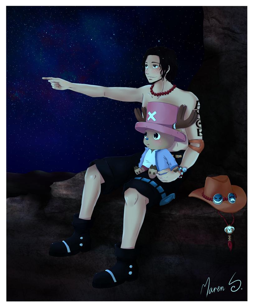 One Piece: star-gazing by WhistlingWolf13