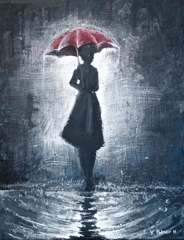 The Girl With The Umbrella By Wafflesl On Deviantart