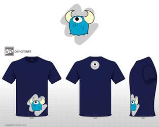 One-eyed Monster Shirt by ZekeWatson