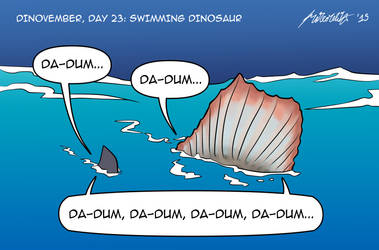 Dinovember, day 23: Swimming dinosaur
