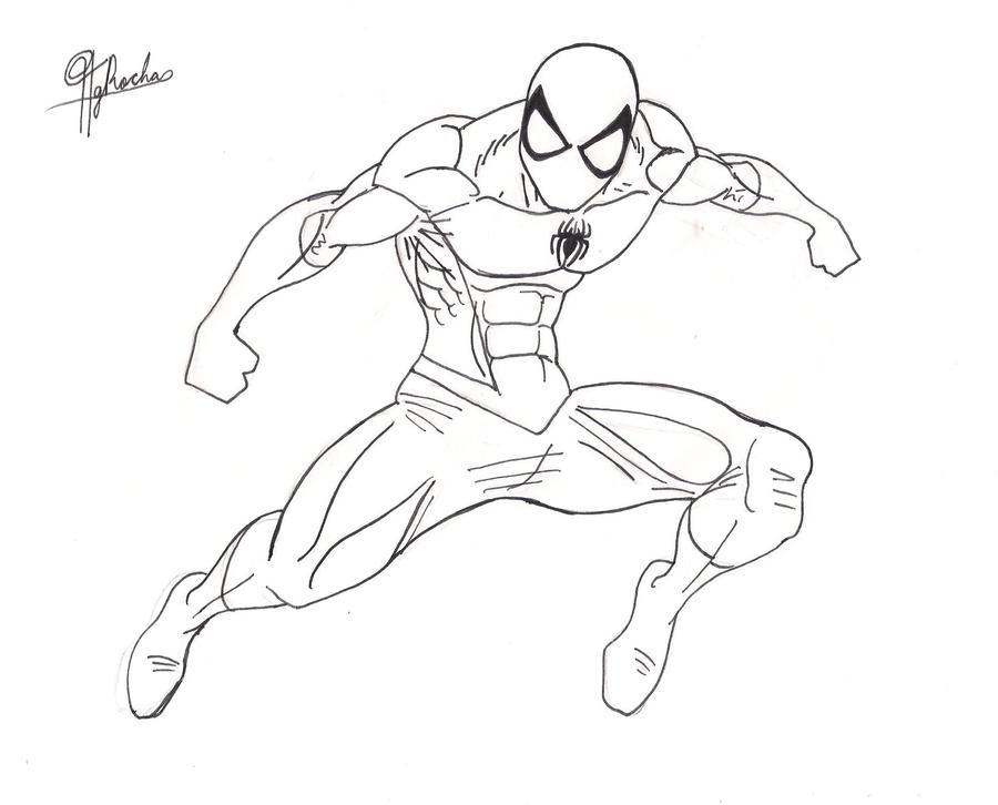 Spiderman Face Line Drawing : Spider man lineart v by spideyfan on deviantart