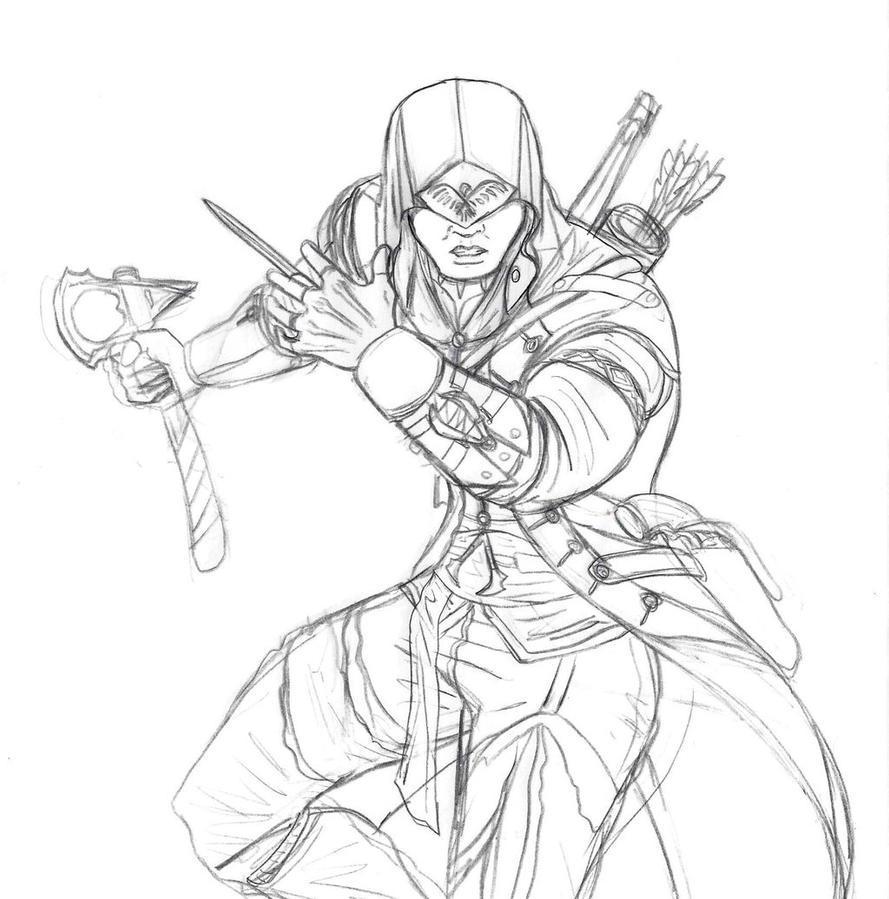 Connor In Action Sketch By Spideyfan3714 On Deviantart