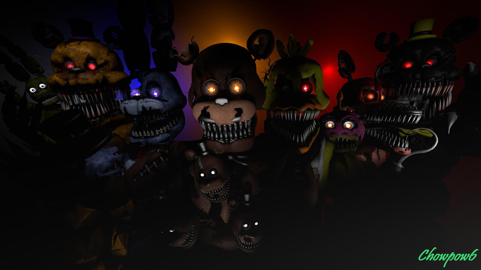 Five Night At Freddy S 4 Poster Sfm By Chowpow6- By