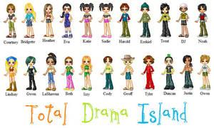 Total Drama Island Pixel Dolls