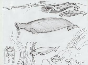 Walrus-faced dugong