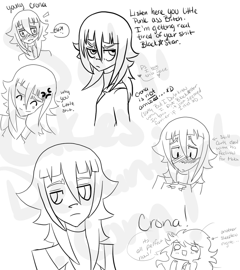 Crona Sketches by SakiCakes on DeviantArt
