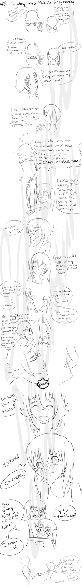 .::CroMa::. 1 Day into Maka's pregnancy by SakiCakes