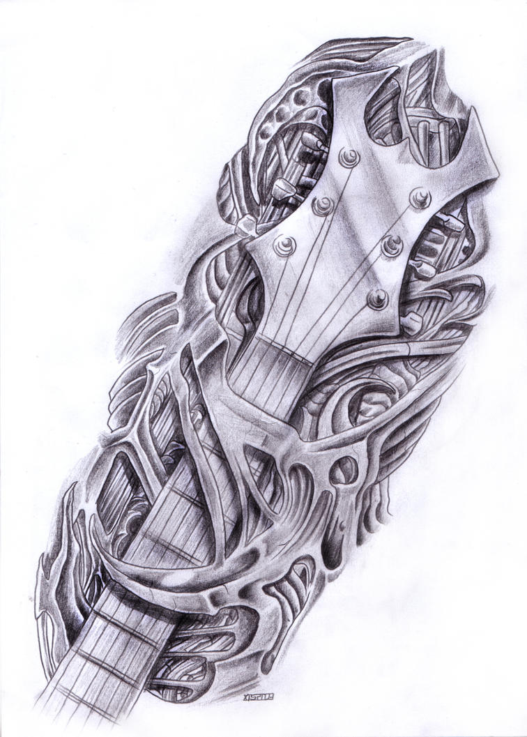 biomech guitar by crackroach