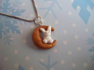 Bunny moon necklace