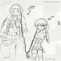 Just Jammin' w.i.p by QueenAnime21