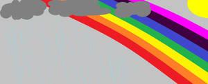 Sun, rain, and a rainbow