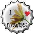 Love flowers bottlecap by Moowna