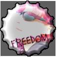 Freedom bottlecap by Moowna