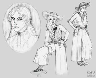 Jane Beauregard sketches by Aryksa