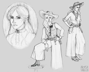 Jane Beauregard sketches