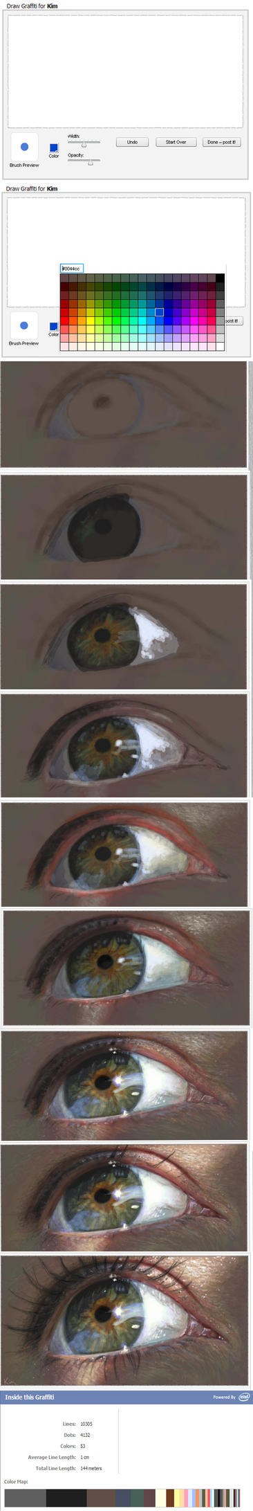 Painting a realistic eye - step by step by Grimstitch