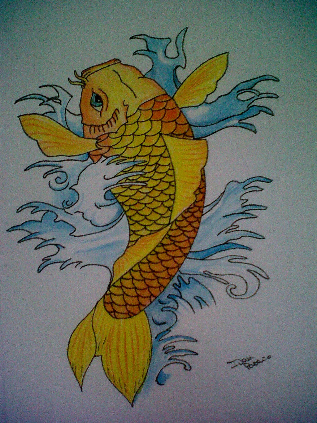Carpa koi by camaia69 on deviantart for Carpa koi costo