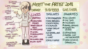 Meet the Artist 2018 (with Speedpaint!) by DannyWade