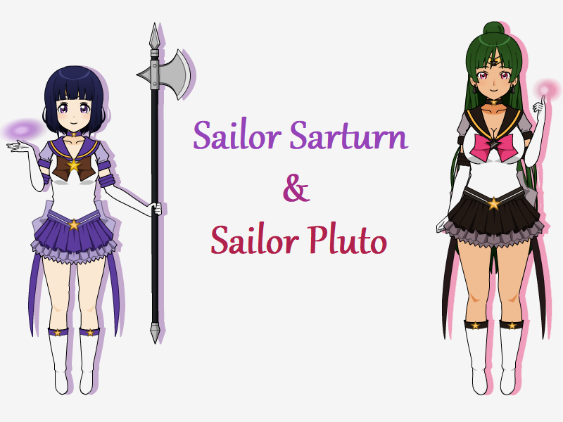 Sailor Saturn and Sailor Pluto + Export Code! by Gugunet-26