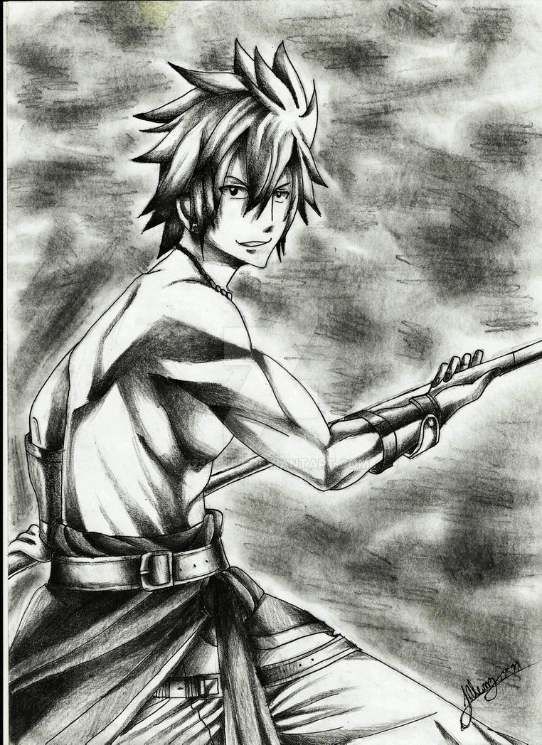 Gray Fullbuster drawing by Al by 12345t67