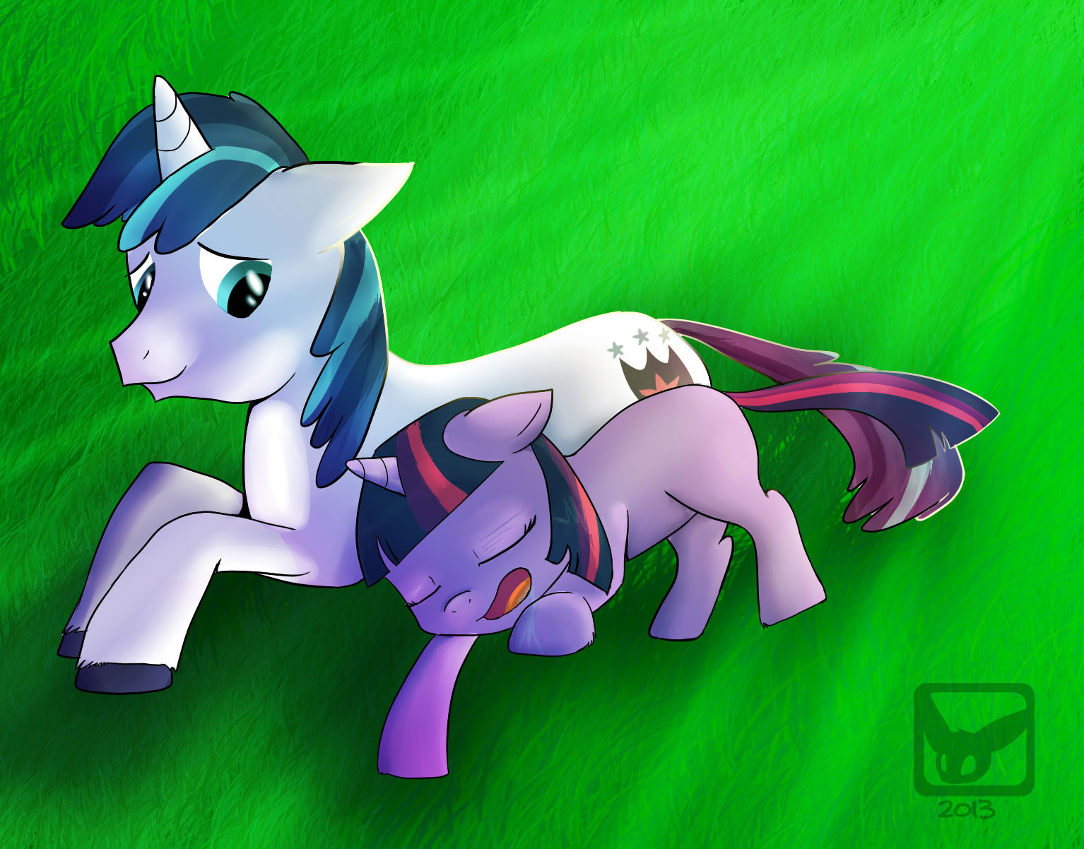 Shining Armor and Little Twilight by Fluttertroll