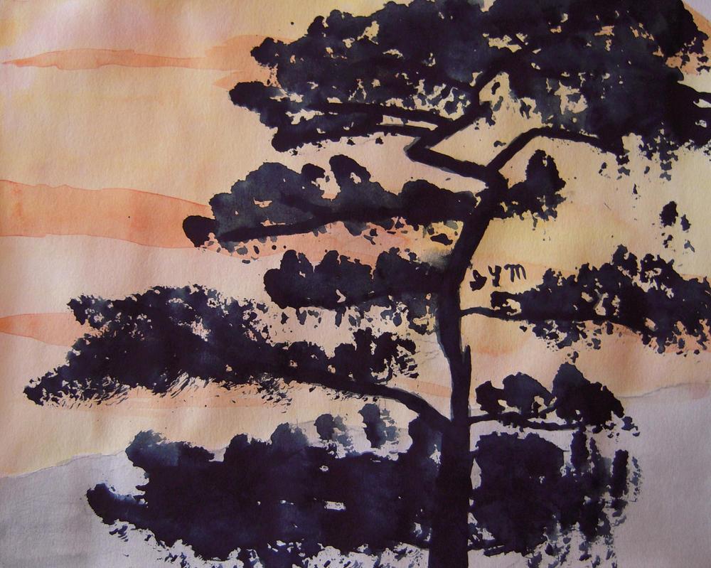 Asian Tree by xf85silverwolf