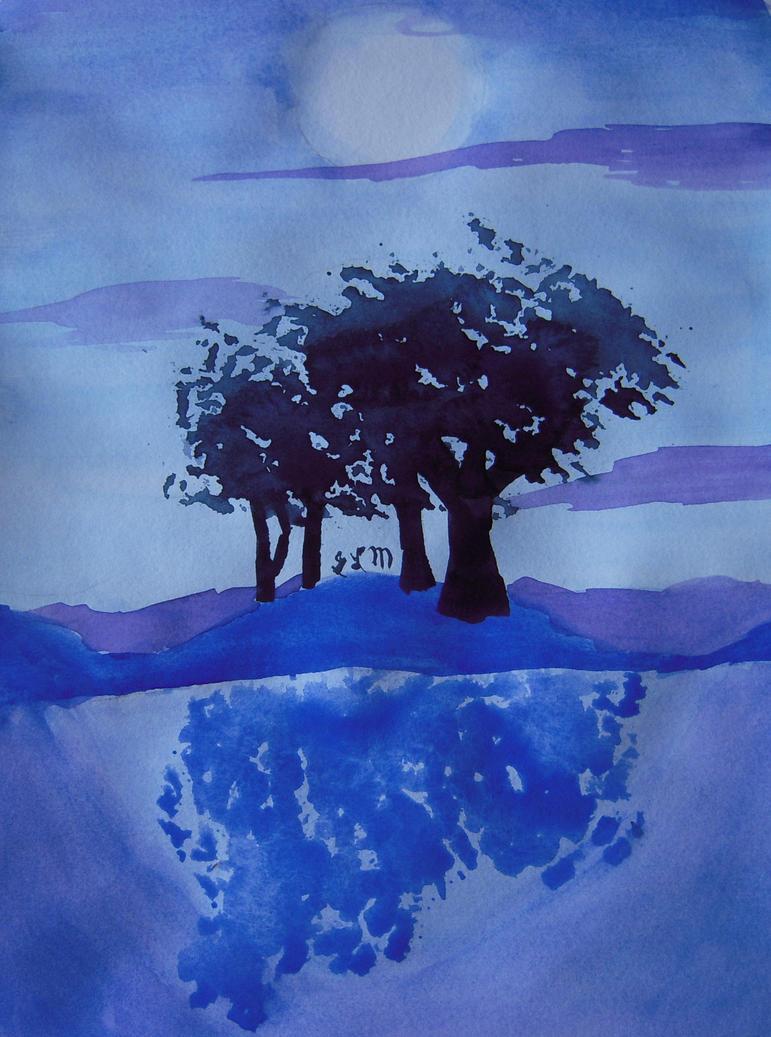 Snow Trees by xf85silverwolf