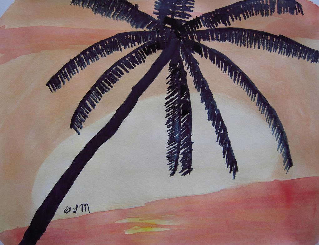 Palm Tree by xf85silverwolf