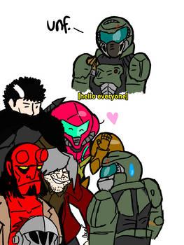 Doomguy meets everyone