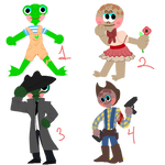 Froggies and Toads (open) by CaptainOregano