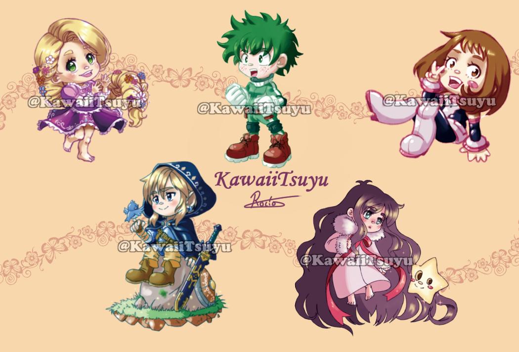 Keychains Preview by KawaiiTsuyu
