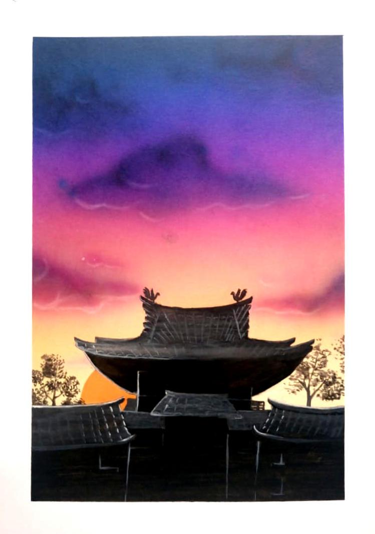 Temple of the Rising Sun by KawaiiTsuyu