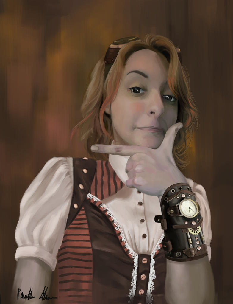 Steampunk girl by kandayuu118