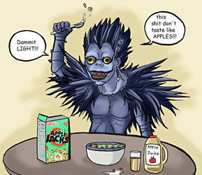 Death Note - Ryuk's outrage by gummypocky