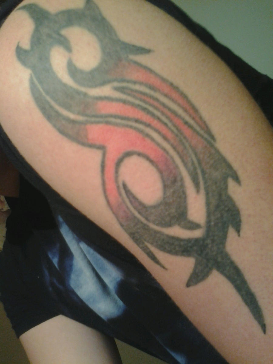 My slipknot tribal s tattoo colored in by anarchyinorder for Tattoos slipknot logo