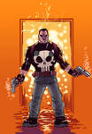 Punisher on fire
