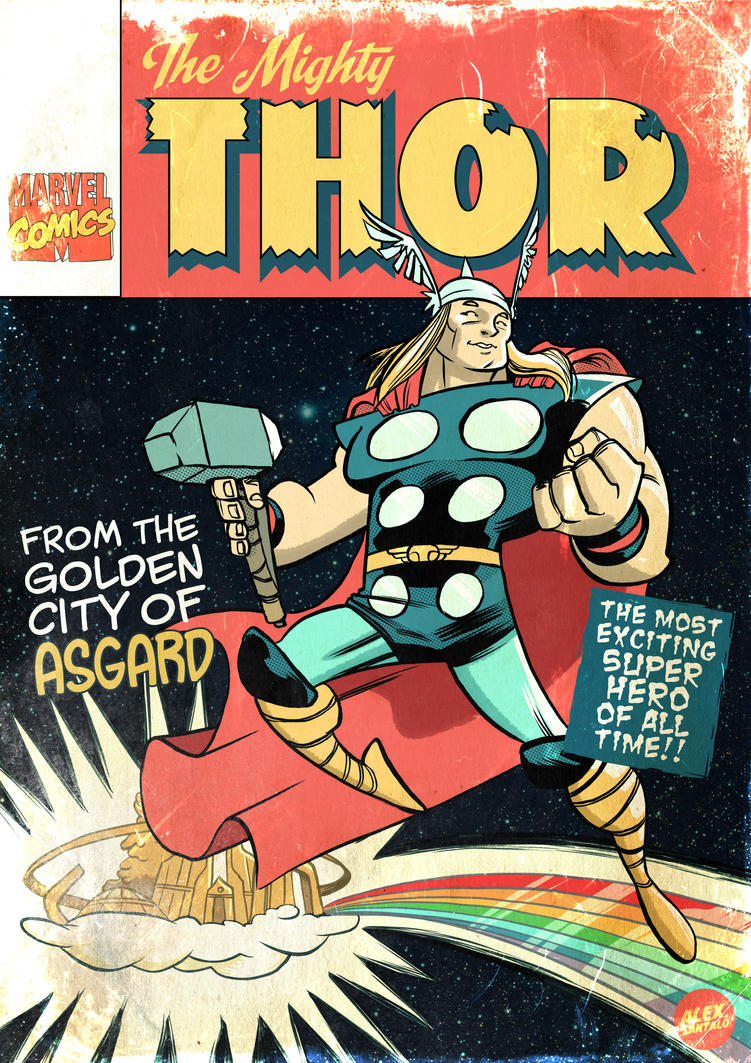 Vintage Comic Book Cover : Thor by alexsantalo on deviantart