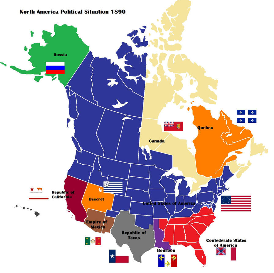 AltHist North America Map  By DaemonofDecay On DeviantArt - Map of us in 1860 free and slave states