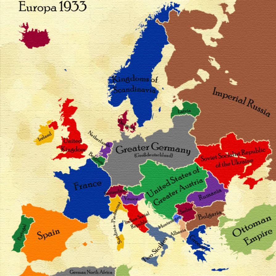 AltHist Europe Map 1933