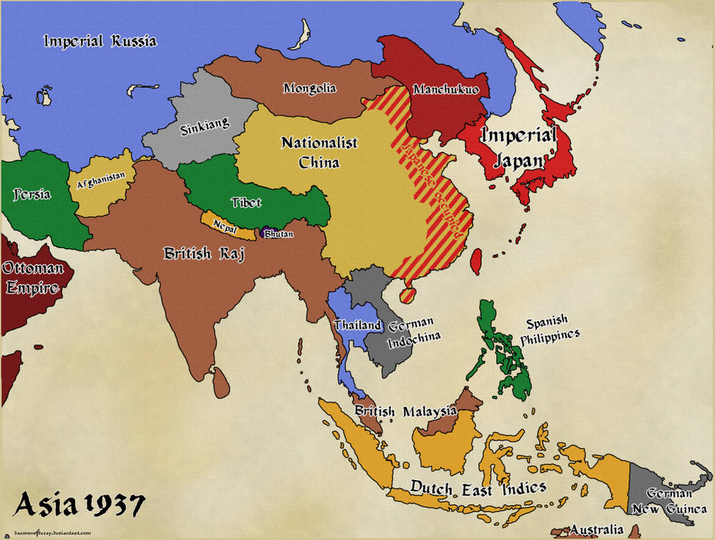 Map Of Asia Fill In.Althist Asia Map 1937 By Daemonofdecay On Deviantart