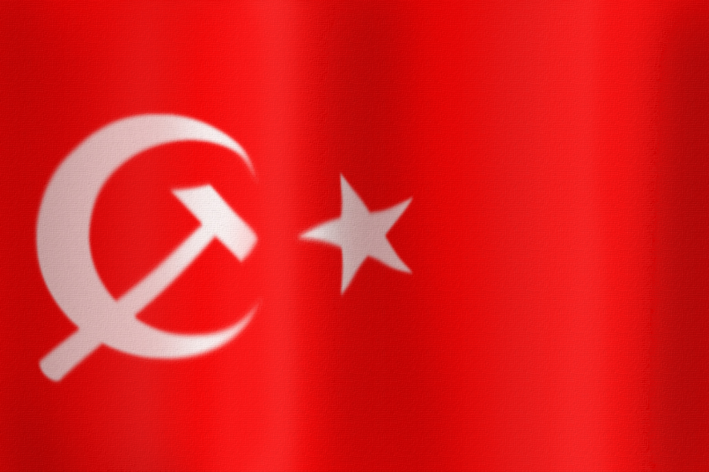 Communist Ottoman Flag by DaemonofDecay