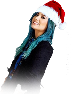 PNG Demi Lovato Christmas by montseviancos on DeviantArt