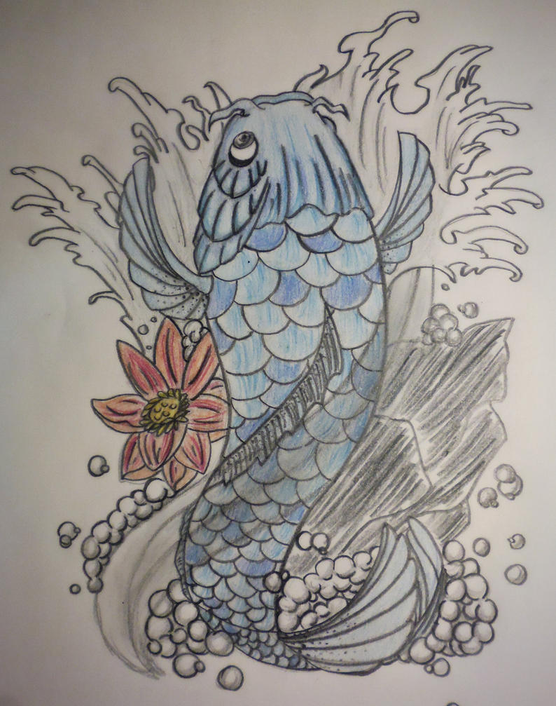 Carpe koi tattoo by urdeil on deviantart for Acheter carpe koi