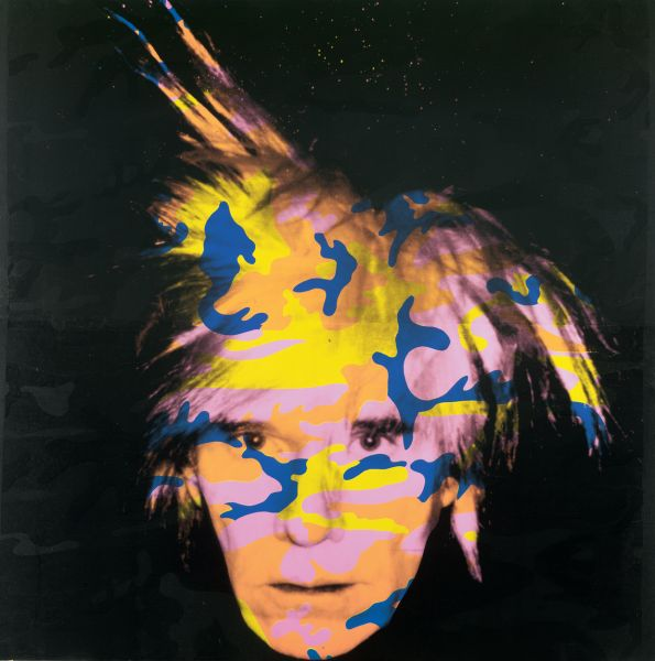 Self portrait camo 1986 by andy warholplz on deviantart for Andy warhol self portrait